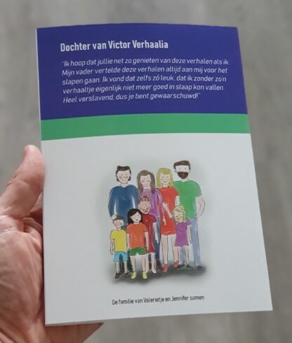 Achterkant Vreemde Verhalenboek van Valerietje